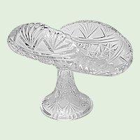 "Antique McKee EAPG Long Star - Teutonic 9"" Banana - Fruit Stand 1894"