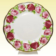 "Vintage Royal Albert Bone China - Old English Rose - 8"" Salad Plate"