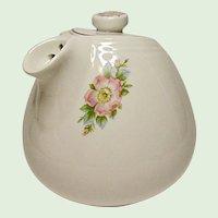 Vintage Hall Sani-Grid Rose White 6 Cup Teapot