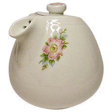 Vintage Hall Sani-Grid Rose White 6 Cup Teapot