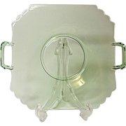 Depression Era - Fostoria - Mayfair Cake Plate Open Handled - Vintage Elegant Glass