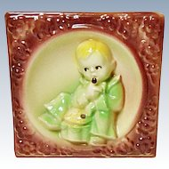 Vintage Shawnee Pottery Little Jack Horner Nursery Rhyme Wall Pocket