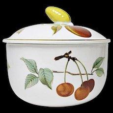 Royal Worcester - Evesham Gold - Fine Porcelain Butter Tub and Lid