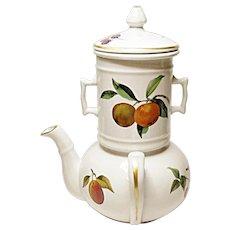 Royal Worcester - Evesham Gold - Fine Porcelain Side Handled Coffee Pot - Teapot Biggin