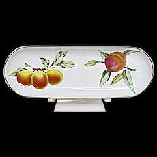 Royal Worcester - Evesham Gold - Fine Porcelain - Oval Mint Tray - Server