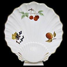 Royal Worcester - Evesham Gold - Fine Porcelain - Large Shell Serving Plate