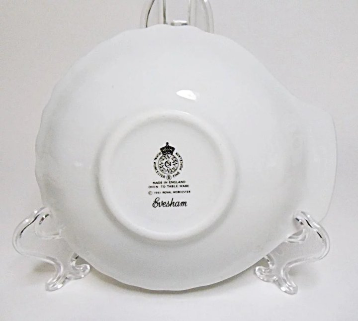 Royal Worcester   Evesham Gold   Fine Porcelain   Small Shell Serving Plate    Tray