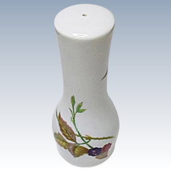 Reduced 20% - Royal Worcester - Evesham Gold - Fine Porcelain - One Hole Salt Shaker