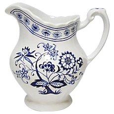Vintage - J & G Meakin Classic White Blue Nordic Ironstone Creamer - Hanley England
