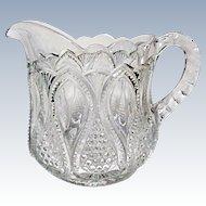 EAPG - Ca. 1900 - 1908 - U.S. Glass New Jersey aka Loops and Drops - Creamer