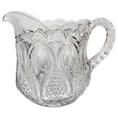 EAPG - Ca. 1900 - 1908 - U.S. Glass New Jersey aka Loops and Drops - Creamer