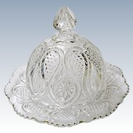 EAPG - Ca. 1900 - 1908 - U.S. Glass Butter Keeper - New Jersey Pattern 15070 aka Loops and Drops