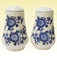 Vintage Enoch Wedgwood (Tunstall) England - Royal Blue - Ironstone Salt And Pepper Shakers