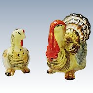 Vintage Artmark - Made In Japan - Turkey Salt and Pepper Shakers - Hand Painted - MIJ