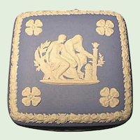 "Wedgwood Jasper Ware Trinket Box  4""  Vanity Jar - Light Blue"