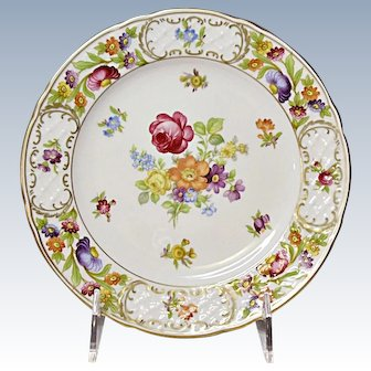 Vintage Schumann Bavaria - Empress Dresden Flowers Salad Plate