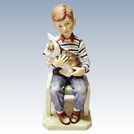 Gorham - Norman Rockwell Figurine - At The Vets - Made In Japan 1974