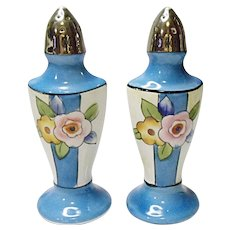 Art Deco - Made In Japan - MIJ - Hand Painted Salt and Pepper Set