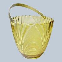Vintage Brockway Glass Co Gold Nouveau Ice-Bucket 1970's