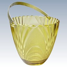 Vintage Brockway Glass Co Gold Nouveau Ice-Bucket 1970's