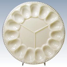 Pre WWII Alacite by Aladdin Deviled Egg and Relish Plate Ca. 1938-1942