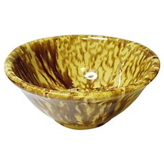 Very Vintage Yellow Ware Bowl With Drips and Runs