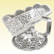 EAPG - Higbee Gala Pattern - aka Hawaiian Lei Antique Pressed Glass Sugar Mint Stand