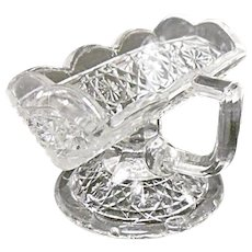 EAPG - Higbee Gala Pattern - aka Hawaiian Lei Antique Pressed Glass Sugar Cube Stand