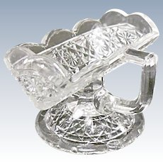 EAPG - Higbee Gala Pattern - aka Hawaiian Lei Antique Pressed Glass Sugar Cube Stand