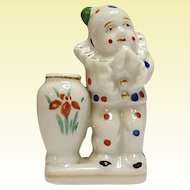 Occupied Japan Polka Dot Sad Face Clown Cache Pot Vase  1945 - 1952