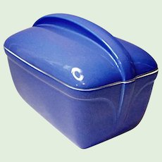 Vintage Hall Bakeware Covered Casserole Delphinium Blue for Westinghouse 1952