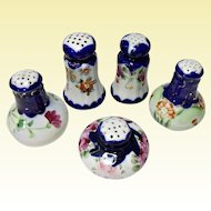 LOT - Very Vintage Japan - Nippon Cobalt Hand Painted Salt Or Pepper Shakers