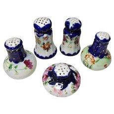 LOT - Very Vintage Japan - Nippon Cobalt Hand Painted Salt Or Pepper Shakers