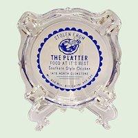 Vintage Advertising Ashtray - The Platter - Springfield, Missouri