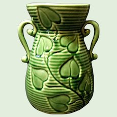 """Vintage Shawnee Handled 6"""" Philodendron Vase No. 805  1940's - 1950's"""