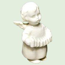 Goebel Porcelain Christmas Angel With Accordion  - W. Germany - TMK-3
