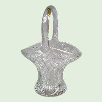 L. E. Smith Glass - No. 1136 Handled Basket - Diamond Pattern