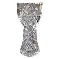 Vintage Cut Crystal Corset Vase