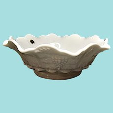 Westmoreland - Paneled Grape Milk Glass Bowl