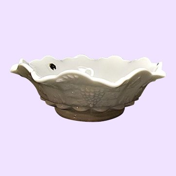 Westmoreland - Paneled Grape Milk Glass Bowl