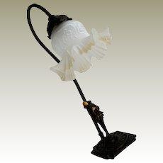 Metal Lamp Pierrot Figure