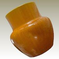 Awaji Pottery Japan Large Heavy Yellow Jug Vase
