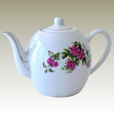 Porcelain Teapot with Roses China