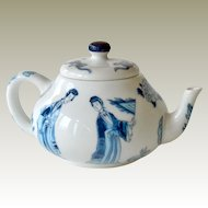 Miniature Teapot Blue and White Kangxi Franklin Mint