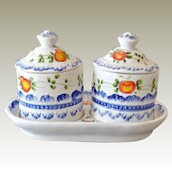 Two Jam Jars with Undertray Italy