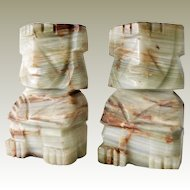 Bookends Onyx Tribal Figures