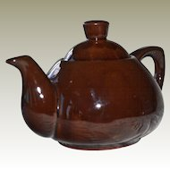 Redware Teapot Ming Tea Co. Secaucus NJ