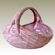 Basket Pink Pottery Woven Pattern