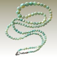 Mother of Pearl Necklace Seafoam Green 30 Inches
