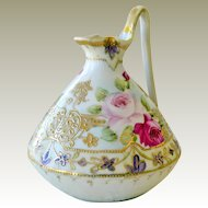 Nippon Hand Painted Pitcher Ewer